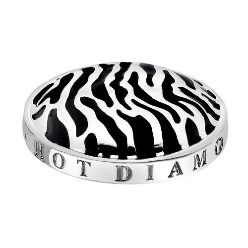 Hot Diamonds Emozioni Silver Plated Stainless Steel Zebra Coin - Large 33mm EC078